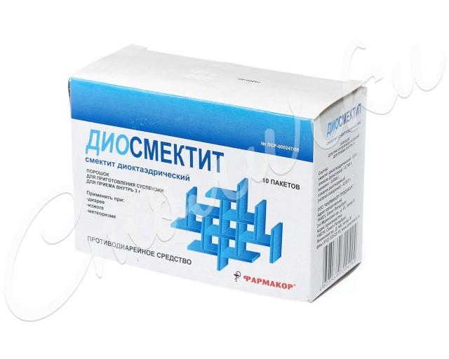 Диосмектит порошок 3г №10 купить в Москве по цене от 115.5 рублей