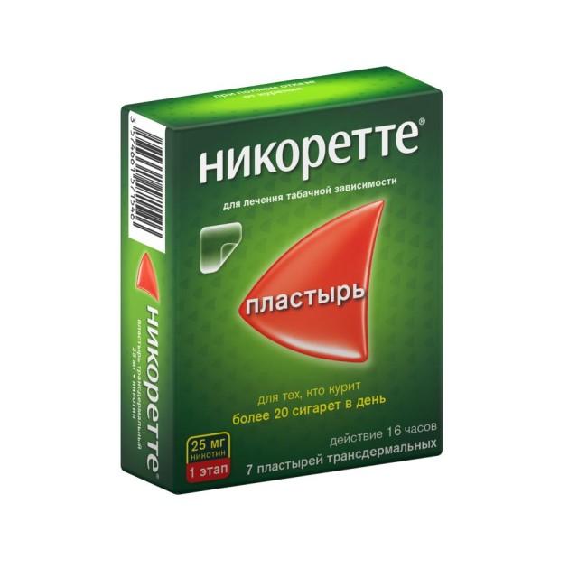 Никоретте ТДТС прозрач. 25мг/16ч №7 купить в Москве по цене от 1020 рублей
