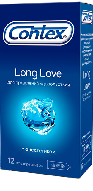 Контекс презервативы Long Love (анестетик) №12 купить в Москве по цене от 543 рублей