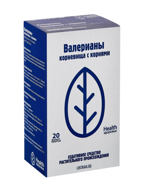 Валериана корневища с корнями Здоровье 1,5г №20 купить в Москве по цене от 59 рублей