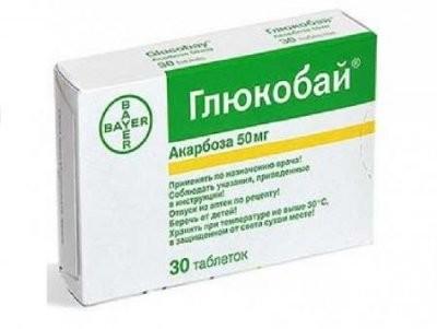 Глюкобай таблетки 50мг №30 купить в Москве по цене от 0 рублей