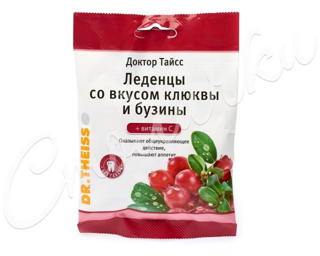 Доктор Тайсс леденцы Клюква/бузина/вит. C 50г купить в Москве по цене от 139.5 рублей