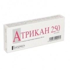 Атрикан 250 капсулы 250мг №8 купить в Москве по цене от 447 рублей