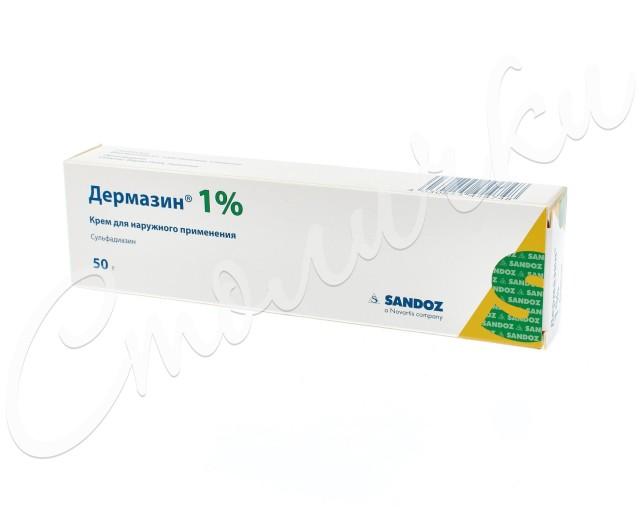 Дермазин крем 1% 50г купить в Москве по цене от 224 рублей