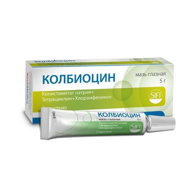 Колбиоцин мазь глазная 5г купить в Москве по цене от 358 рублей