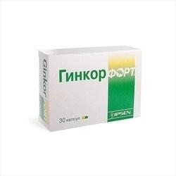 Гинкор форт капсулы №30 купить в Москве по цене от 390 рублей