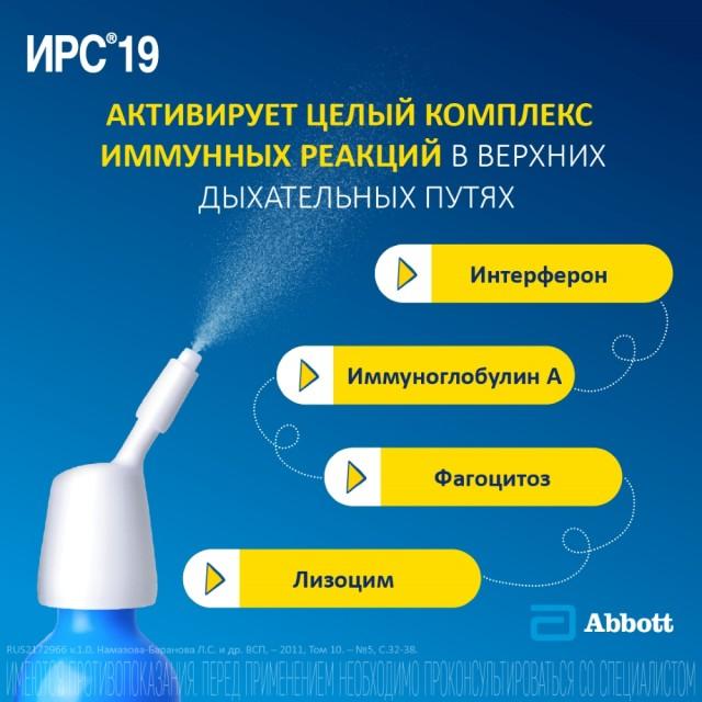 ИРС 19 спрей назальный 20мл купить в Москве по цене от 538 рублей