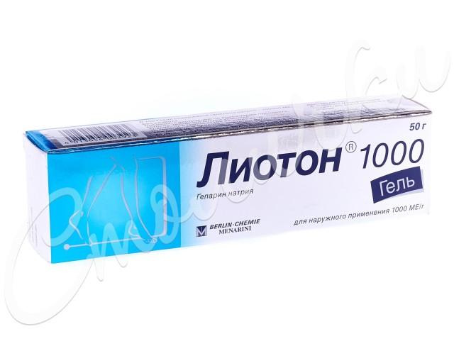 Лиотон 1000 гель 1000 ЕД/г 50г купить в Москве по цене от 572 рублей