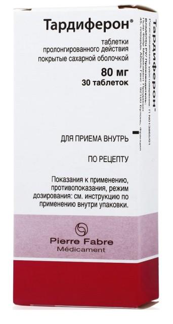 Тардиферон таблетки пролонгированные 80мг №30 купить в Москве по цене от 383 рублей