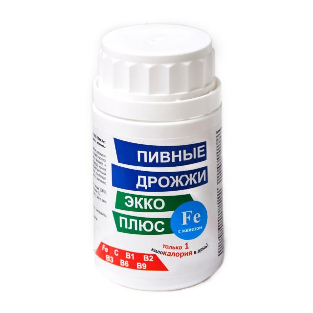 Дрожжи пивные Экко плюс Железо таблетки №100 купить в Москве по цене от 114 рублей