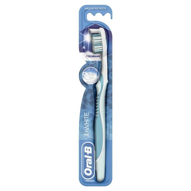 Орал Би зубная щетка 3Д Уайт 40 средняя купить в Москве по цене от 175 рублей