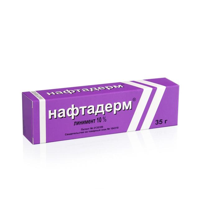 Нафтадерм линимент 10% 35г купить в Москве по цене от 475 рублей