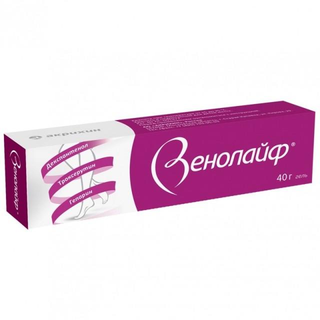 Венолайф гель 40г купить в Москве по цене от 423 рублей