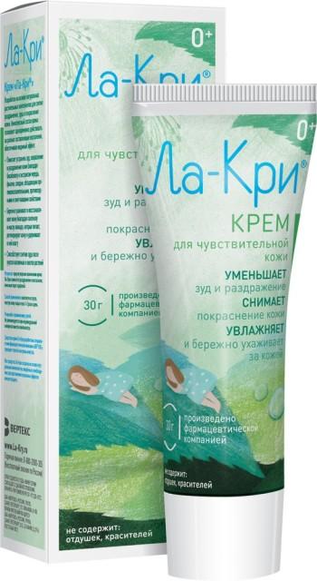 Ла-Кри крем д/чувств. кожи 30г купить в Москве по цене от 235 рублей