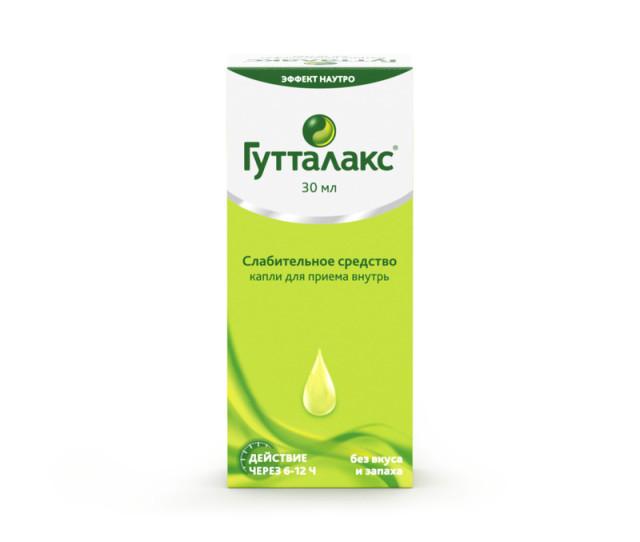 Гутталакс капли внутрь 7,5мг/мл 30мл купить в Москве по цене от 438 рублей