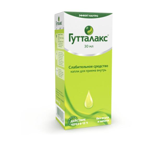 Гутталакс капли внутрь 7,5мг/мл 30мл купить в Москве по цене от 455 рублей