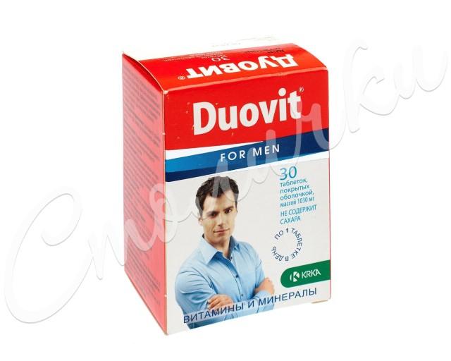 Дуовит для мужчин таблетки п.о №30 купить в Москве по цене от 712 рублей