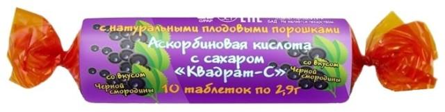 Аскорбиновая к-та крутка с сахаром Смородина таблетки №10 купить в Москве по цене от 20 рублей