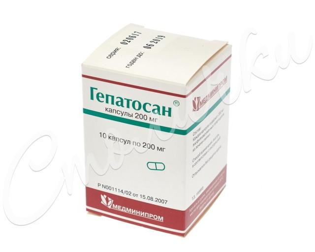 Гепатосан капсулы 200мг №10 купить в Москве по цене от 365 рублей