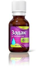 Зодак капли внутрь 10мг/мл 20мл купить в Москве по цене от 170.5 рублей