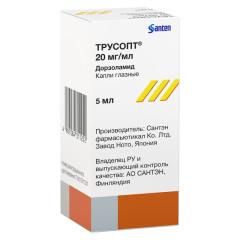Трусопт капли глазные 2% 5мл купить в Москве по цене от 304.5 рублей