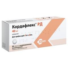 Кордафлекс РД таблетки п.о 40мг №30 купить в Москве по цене от 209 рублей