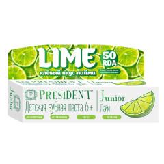 Президент зубная паста Джуниор от 6лет лайм 50мл