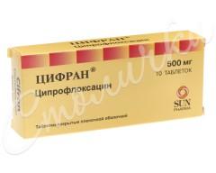 Цифран таблетки п.о 500мг №10