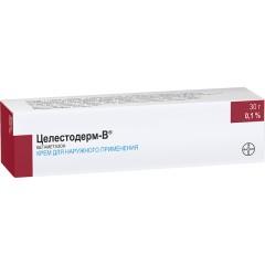 Целестодерм В крем 0,1% 30г купить в Москве по цене от 322.5 рублей
