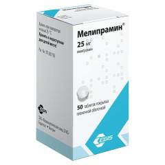 Мелипрамин таблетки п.о 25мг №50 купить в Москве по цене от 353 рублей
