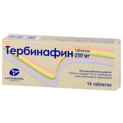 Тербинафин таблетки 250мг №14