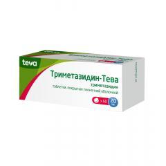 Триметазидин таблетки п.о 20мг №60 купить в Москве по цене от 236 рублей