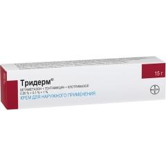 Тридерм крем 15г купить в Москве по цене от 733 рублей