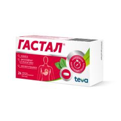 Гастал таблетки для рассасывания №24 (мятные)