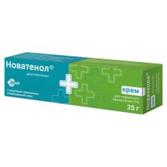 Пантенол Д Новатенол крем 5% 25г купить в Москве по цене от 262 рублей