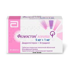Фемостон 1/5 (Конти) таблетки №28 купить в Москве по цене от 1240 рублей