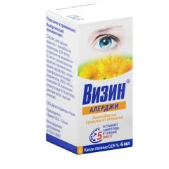 Визин Алерджи капли глазные 4мл купить в Москве по цене от 410 рублей