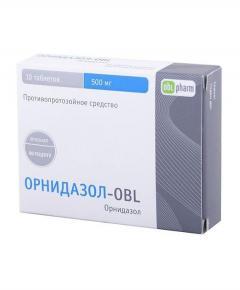 Орнидазол-OBL таблетки п.о 500мг №10