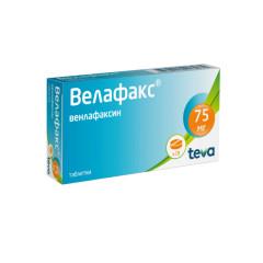 Велафакс таблетки 75мг №28 купить в Москве по цене от 776 рублей