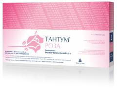 Тантум Роза раствор вагинальный 0,1% 140мл №5 купить в Москве по цене от 1040 рублей