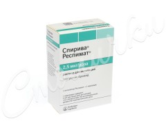 Спирива Респимат раствор для ингаляций картридж 2,5мкг/доза 4мл 60доз