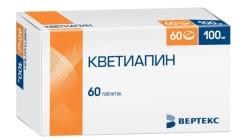 Кветиапин таблетки п.о 100мг №60