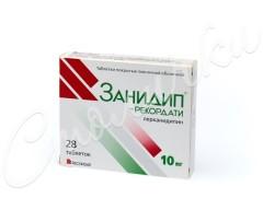 Занидип-Рекордати таблетки п.о 10мг №28