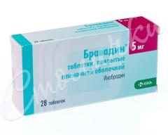 Бравадин таблетки п.о 5мг №28