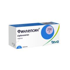 Финлепсин таблетки 200мг №50 купить в Москве по цене от 150.5 рублей