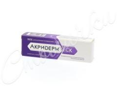 Акридерм СК мазь 15г купить в Москве по цене от 270 рублей