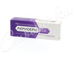 Акридерм СК мазь 30г купить в Москве по цене от 417 рублей