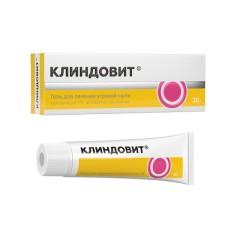 Клиндовит гель 1% 30г купить в Москве по цене от 421 рублей