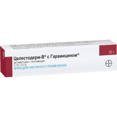 Целестодерм В с гарамицином крем 15г купить в Москве по цене от 448 рублей