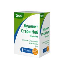 Буденит Стери-Неб суспензия д/ингал.0,25мг/мл 2мл №20 купить в Москве по цене от 712.5 рублей